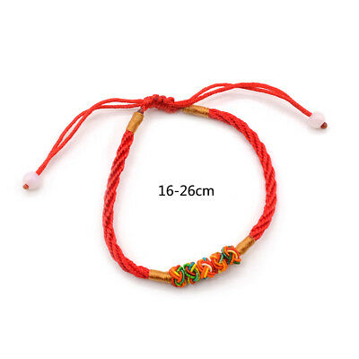 Feng Shui Red String Thread Adjustable Bracelet Chinese Oriental Lucky Jewelry