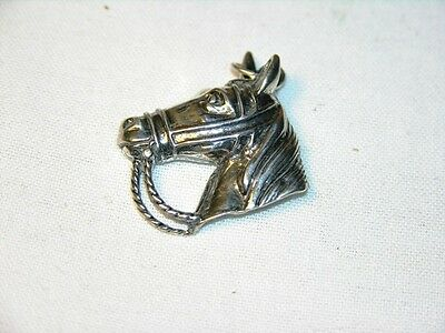 Horse equestrian sterling silver pendant