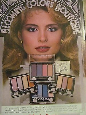 Maybelline, Blooming Colors Eye Shadows, Full Page Vintage Print Ad