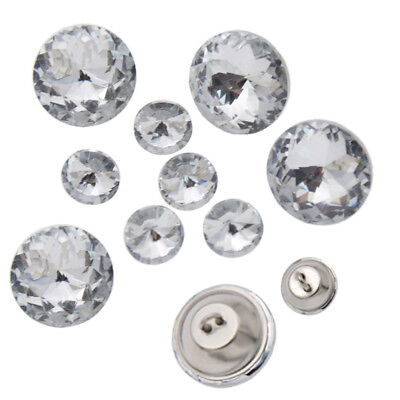 10/20 Pc Diamond Bright Crystal Beautiful Upholstery Sofa Decor DIY Sew Buttons
