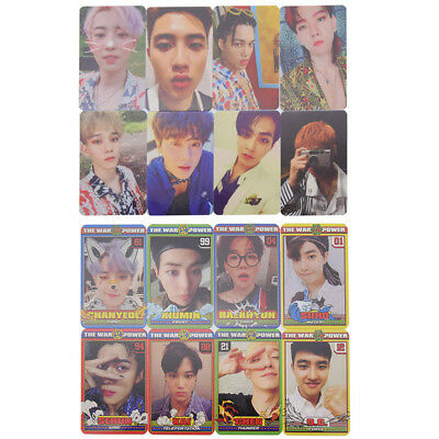 8 Pcs Set Kpop EXO THE WAR The Power of Music Card Paper Photocards  Fans Gifts