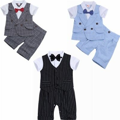 Baby Boy Formal Clothing Jumpsuit Romper Tuxedo Baby gentlemen suit set