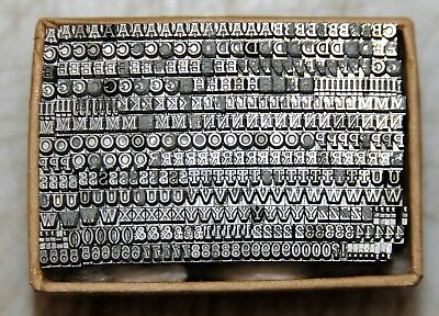 8pt Rockwell Caps , Letterpress Metal Type # ADANA EIGHT FIVE  8 x 5 user