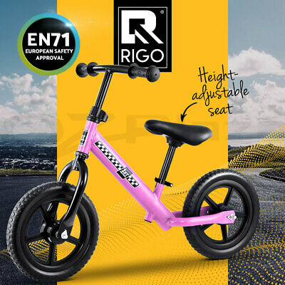 RIGO Kids Balance Bike Ride On Toys Puch Bicycle Wheels Toddler Baby Pink Bikes