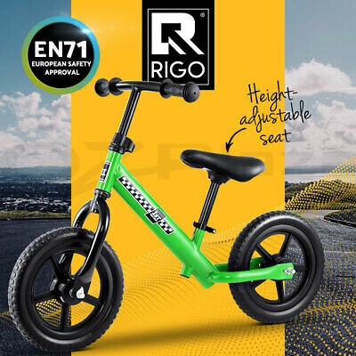 RIGO Kids Balance Bike Ride On Toys Puch Bicycle Wheels Toddler Baby Green Bikes