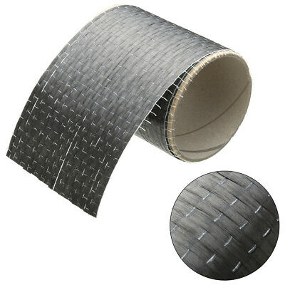 "12K 200gsm Real Carbon Fiber Fabric Cloth Tape UNI-Directional Weave 4"" x 36"""