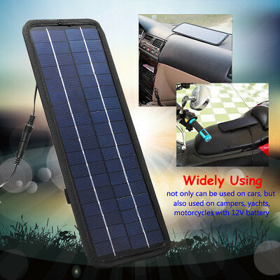 Solar Panel Trickle Battery Charger 4.5W 12V Power Supply For Car Marine Boat