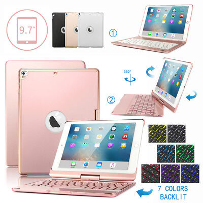 """Backlit Bluetooth Keyboard Case Cover For iPad 9.7"""" 5th/6th 2017/18 Air 1/2 Pro"""