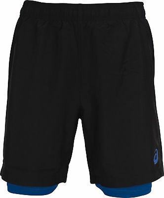 Asics Woven 2 In 1 Mens Running Shorts - Black