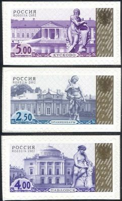 Russia 2002 Palaces/Parks/Statues/Buildings/Architecture/Heritage 3v set n44495a