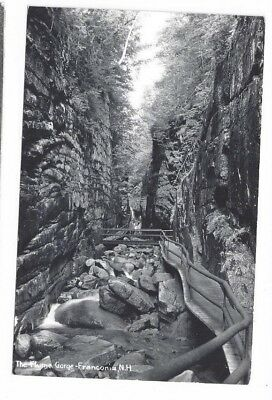 NH Franconia New Hampshire antique real photo rppc post card Flume Gorge