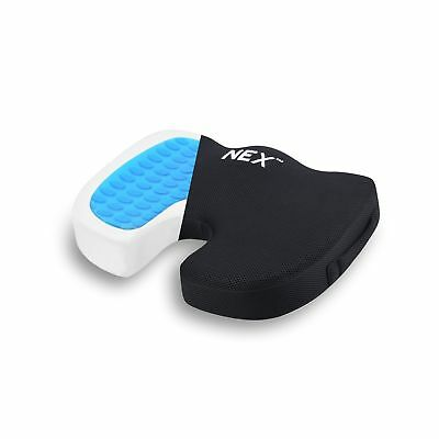 Truck Driver Seat Gel Cushion Memory Foam Pain Relief Tailbone Pillow Coccyx Car