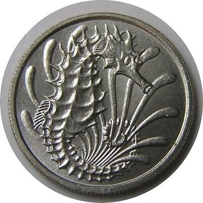 elf Singapore 10 Cents 1973  Sea Horse