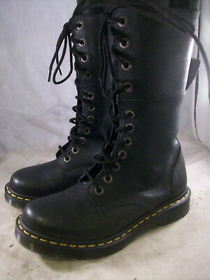 2ad58cee862b New Dr. Martens Women s Hazil Tall Slouch Boots Black Virginia 8 Med 6 Uk   155