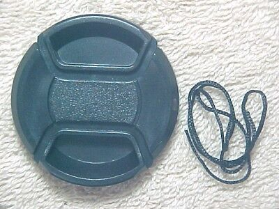New 49Mm Plastic Center-Pinch Snap-In Front Camera Lens Cap With Keeper