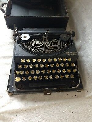 Vintage Antique Remington Portable Typewriter (Cc)