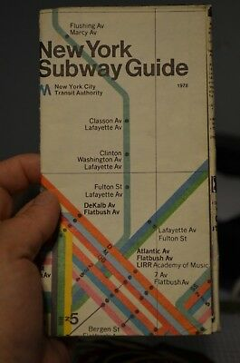 Massimo Vignelli Subway Map 1978.1978 New York City Subway Massimo Vignelli Subway Map And Guide Nycta