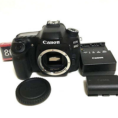 Canon EOS 80D Digital SLR Camera Body (Black) Shutter:126