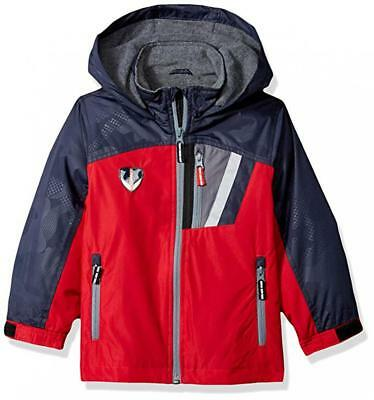 London Fog Toddler Boys Red Hooded Midweight Jacket Size 2T 3T 4T