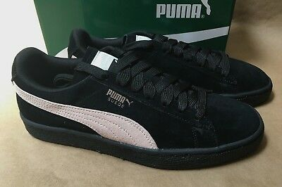 finest selection e6b0f 6fc7e NEW PUMA CLASSIC Womens Size 8,8.5 Suede Black Pearl White Sneakers Casual  Shoes