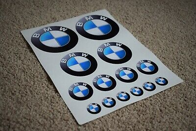 BMW Motorcycle Bike Car Helmet Boot Bonnet Emblem Logos Racing Decal Stickers