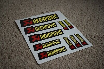 Akrapovic Black/Yellow Motorbike Bike Decals Stickers