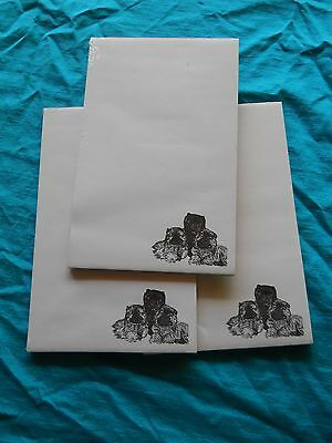 Chow Chow Trio Dog Notepad 50 Sheets 8.5 x 5.5 New Black & White Drawing-3 pads