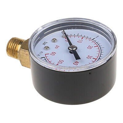 "0-60 PSI Mini Pressure Gauge Pool Spa Filter Water Pressure Measuring 1/4"" NPT"