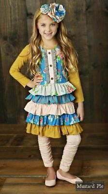 NWT Girl Mustard Pie Picnic Lunch Collection Josephine Dress Girls sz 8