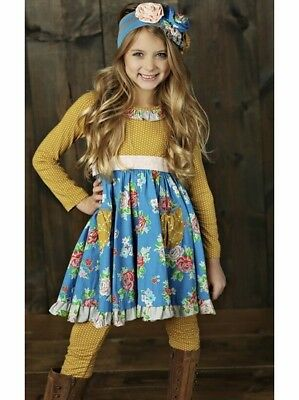 NWT Girl Mustard Pie Picnic Lunch Collection Cozette Dress Girls sz 6