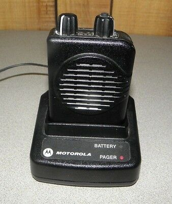 Motorola Minitor V (5) Single Channel UHF Stored Voice SV Pager 470-478 MHz