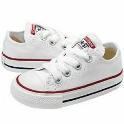 Converse Chuck Taylor All Star Ox Optical White Infant Toddler Shoes 7J256 f58cfa032