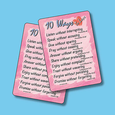 """10 Ways To Love"" - Poem - 2 Inspirational Verse Cards - sku# 645"