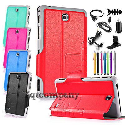 For Samsung Galaxy Tab 4 8.0 8 inch SM-T330NU Case PU Leather Cover + Accessory