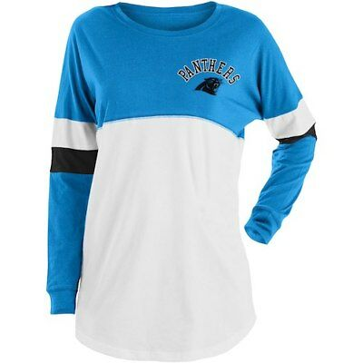 Carolina Panthers New Era Women s Varsity Athletic Long Sleeve T-Shirt -  Blue 3a0a6a79d