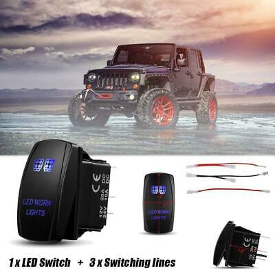 LED HID Work Driving Light Bar Wiring Kit Harness Loom Switch Relay 12V 24V 40A