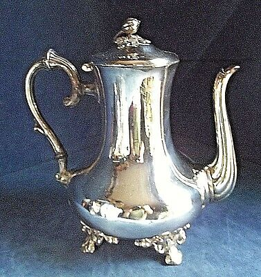 SUPERB Large ~ SILVER Plated ~ BULBOUS Fluted ~ TEAPOT ~ c1900 by Atkins Brother