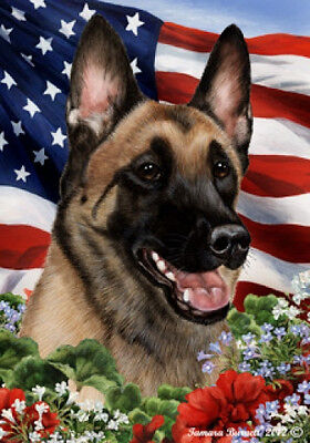 Garden Indoor/Outdoor Patriotic I Flag - Belgian Malinois 162511