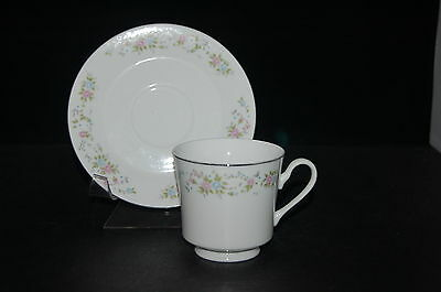 SET of 3 - Sango Heirloom 078 Cup and Saucer