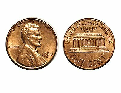 1960-D  Lincoln Cent - RPM-017 #17 Uncirculated bu Red  #858