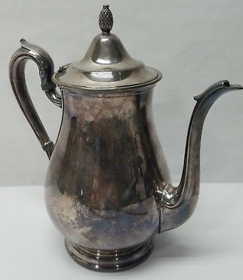 Vintage Reed Barton 1800 Silver Plate Tea Pot Coffee Water Pitcher Lid Handle