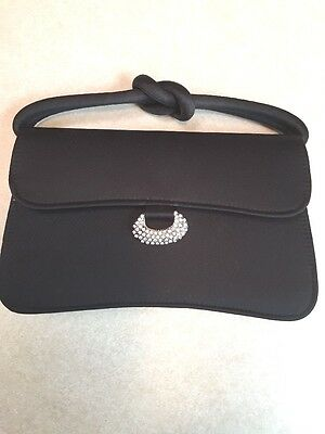 Small Carlo Fellini black evening purse, bag with a bit of bling