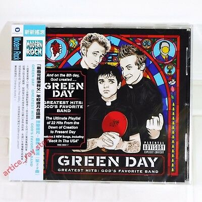 Green Day Greatest Hits God's favorite Band Taiwan CD w/OBI 2017 NEW