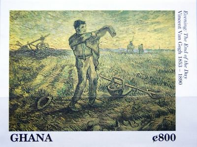 GHANA 1991 Block 178 S/S 1337 100th Death Ann Van Gogh Paintings Gemälde Art MNH