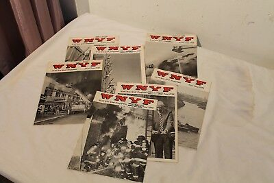 Lot of 7  New York Fire Fighters  W N Y F Magazines from 1981 & 1982