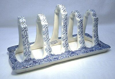 Victorian Pratt Lake Scenery Blue & White  Toast Rack