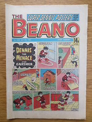 The BEANO UK COMIC JULY 13 1985 No 2243 Vintage Birthday Gift Birth Date