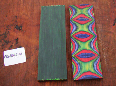 "5"" Pair of Exotic Wood Scales Knife Handle Making Blanks Bush Crafts TOP! (5044"
