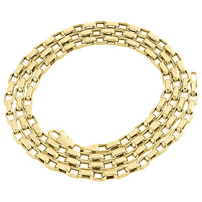 """Genuine 14K Yellow Gold Fancy Hermes Link Oval Chain 3.25mm Nekclace 22"""" and 24"""""""