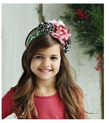 NWT Mustard Pie Alice Wrap Mystic Evergreen Holiday Collection Girls Large 7  12